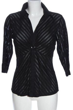 Biaggini Blouse met lange mouwen zwart gestreept patroon casual uitstraling