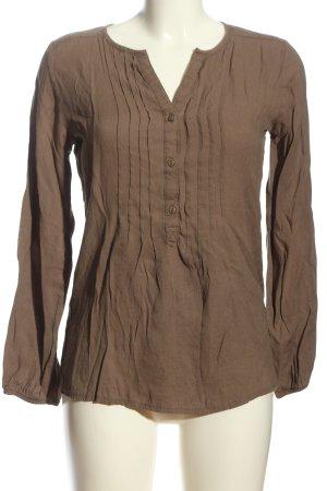 Biaggini Langarmhemd bronzefarben Casual-Look