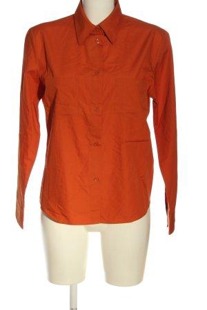 Biaggini Shirt met lange mouwen licht Oranje zakelijke stijl