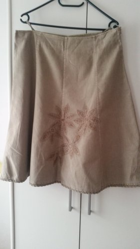 Biaggini Linen Skirt grey brown