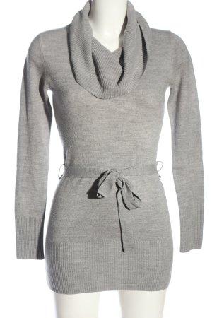 Biaggini Abito maglione grigio chiaro puntinato stile casual