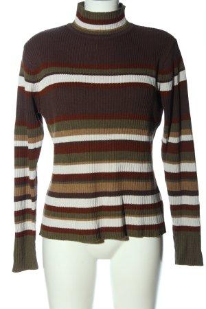 Biaggini Sweter z golfem Wzór w paski W stylu casual