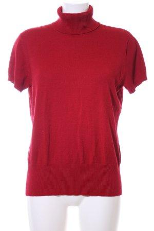 Biaggini Camisa de cuello de tortuga rojo look casual