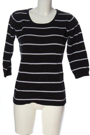 Biaggini Sweter z okrągłym dekoltem czarny-biały Na całej powierzchni