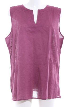 Biaggini Top sin hombros rosa look casual