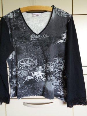Biaggini Koszulka z dekoltem w kształcie litery V taupe-jasnobeżowy Wiskoza