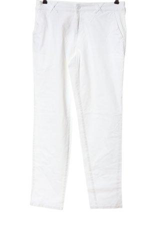 Biaggini Pantalon en jersey blanc style décontracté