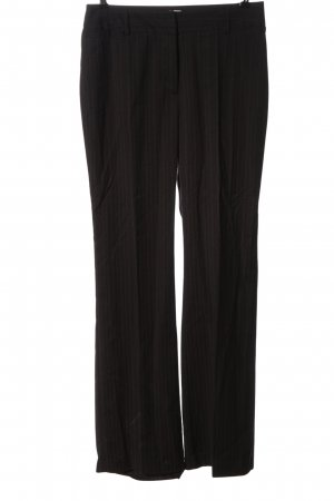 Biaggini Pantalon en jersey brun motif rayé style d'affaires