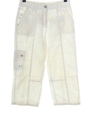 Biaggini Spodnie materiałowe biały W stylu casual