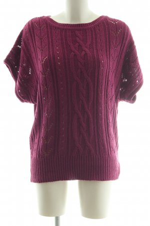 Biaggini Knitted Jumper red cable stitch casual look