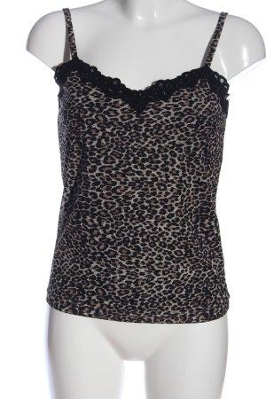 Biaggini Top na ramiączkach czarny-biały Na całej powierzchni W stylu casual