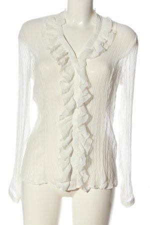Biaggini Blusa trasparente bianco sporco elegante