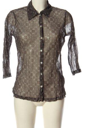 Biaggini Transparenz-Bluse schwarz-wollweiß abstraktes Muster Elegant