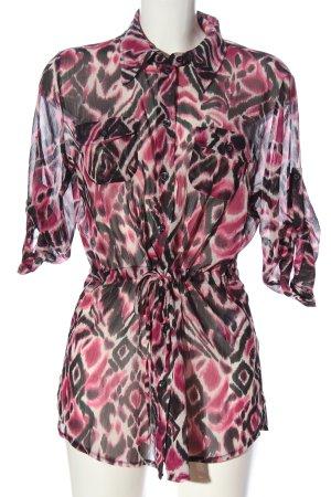 Biaggini Transparentna bluzka Abstrakcyjny wzór W stylu casual
