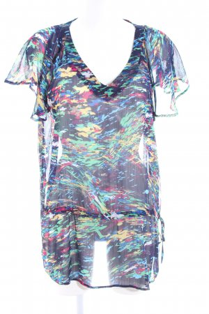 Biaggini Transparenz-Bluse abstraktes Muster Casual-Look