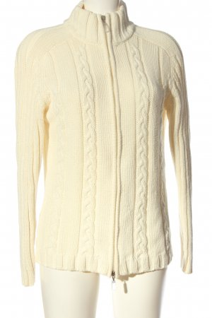Biaggini Kurtka przejściowa w kolorze białej wełny Warkoczowy wzór