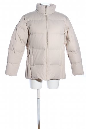 Biaggini Veste d'hiver blanc cassé motif de courtepointe style décontracté