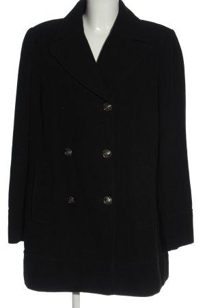 Biaggini Wollen jas zwart klassieke stijl