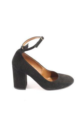 Bianca Di Chaussure à talons carrés noir style décontracté