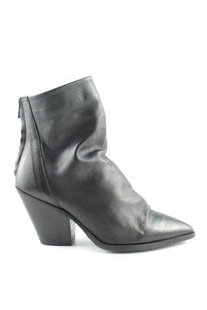 Bianca Di Reißverschluss-Stiefeletten schwarz Casual-Look
