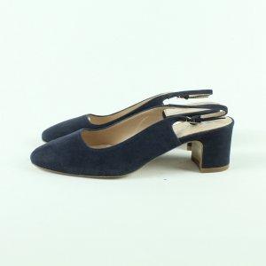 Bianca Di Slingback pumps donkerblauw Leer