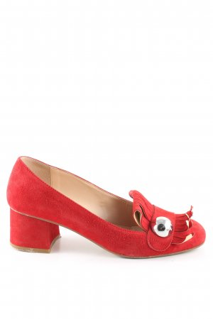Bianca Di Loafers rood casual uitstraling