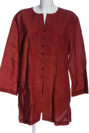 Bianca Hemd-Bluse rot meliert Casual-Look