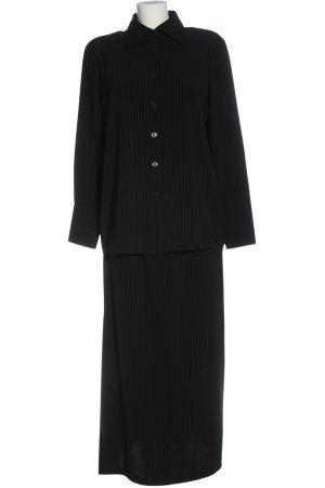 Bianca Ladies' Suit black striped pattern business style