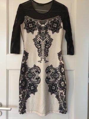 Bianca Cocktail Dress white-black polyester