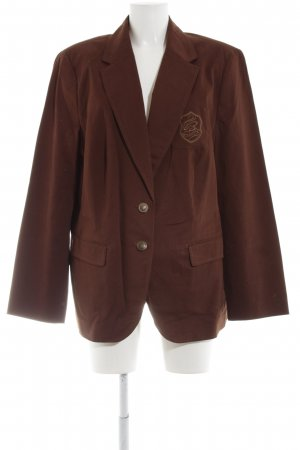 Bianca Short Blazer brown embroidered lettering business style