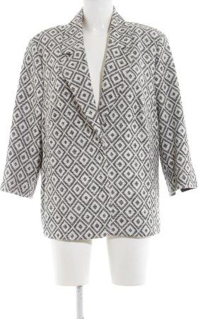 Bianca Short Blazer white-light grey allover print classic style
