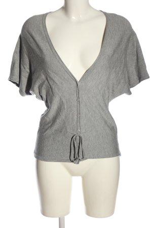 Bianca Camicetta a maniche corte grigio chiaro puntinato stile casual