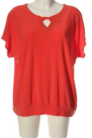 Bianca Camicetta a maniche corte rosso stile casual