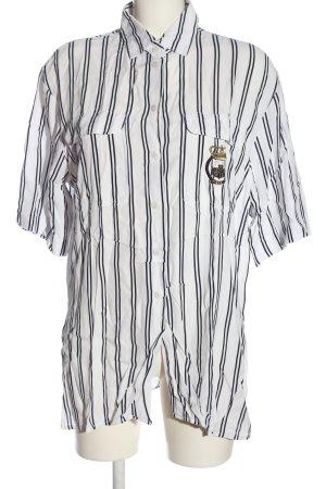 Bianca Camisa de manga corta negro-blanco estilo «business»