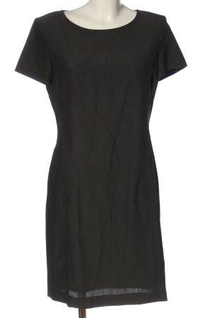 Bianca Robe à manches courtes noir-blanc motif rayé style décontracté