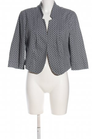 Bianca Short Jacket black-white allover print casual look