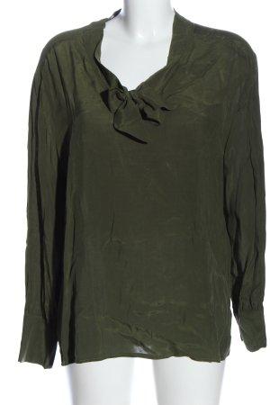 Bianca Long Sleeve Blouse khaki casual look