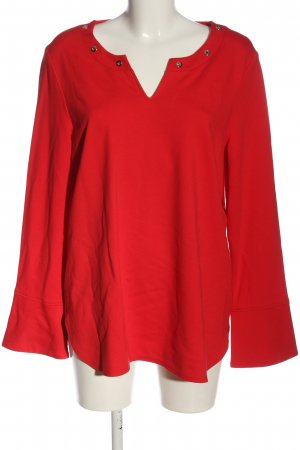 Bianca Long Sleeve Blouse red casual look