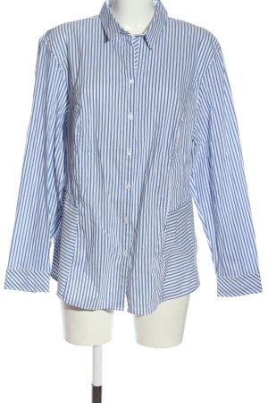 Bianca Chemise à manches longues blanc-bleu imprimé allover