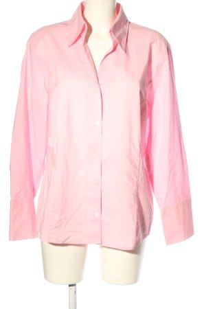 Bianca Chemise à manches longues rose style d'affaires