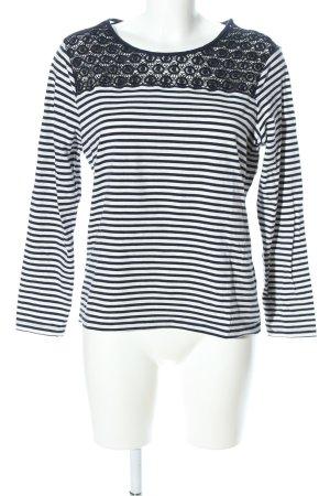Bianca Longsleeve schwarz-weiß Streifenmuster Casual-Look