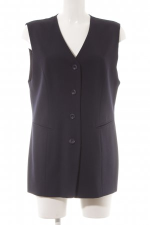Bianca Long Knitted Vest blue-dark blue business style