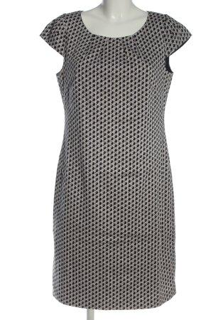 Bianca Sukienka midi biały-czarny Na całej powierzchni W stylu casual