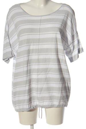 Bianca Koszulka w paski biały-jasnoszary Wzór w paski W stylu casual