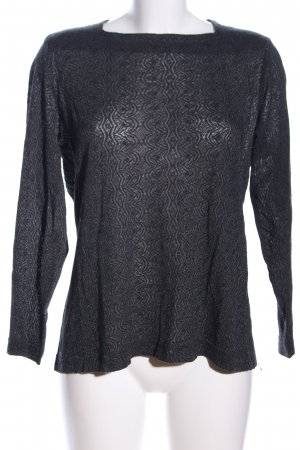 Bianca Crewneck Sweater black allover print casual look