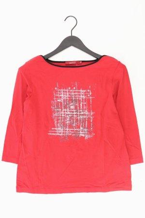 Bianca Shirt Größe 42 3/4 Ärmel rot aus Kunstseide