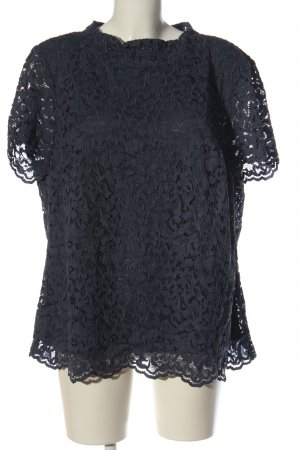 Bianca Kanten blouse blauw zakelijke stijl