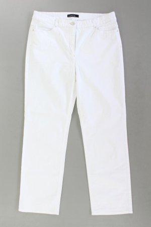 Bianca Jeans coupe-droite blanc cassé coton