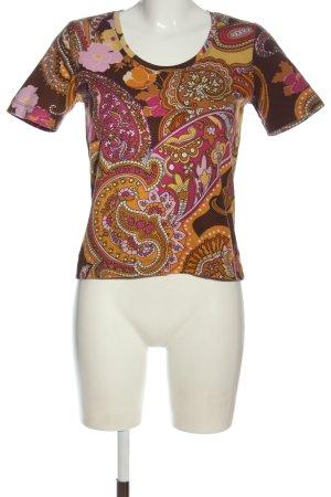 Bianca T-shirt stampa integrale stile casual