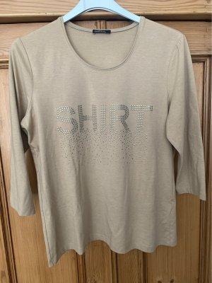 Bianca T-Shirt beige Nieten